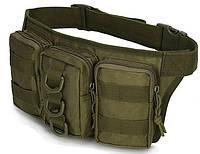 Поясная тактическая сумка Карго, оливковая