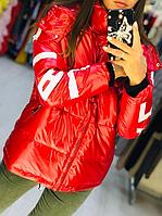 Зимова куртка жіноча зі знімним капюшоном, з 42 по 82 розмір, фото 1