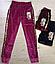 Спортивные велюровые брюки для девочек, Венгрия, Seagull,  арт. CSQ-52120, фото 2