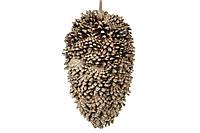 Новогодний подвесной декор из шишек 26 см (2 шт)