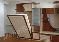 Модульная система с откидной шкаф-кроватью в гостиную комнату