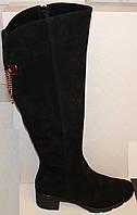 Сапоги женские зимние замшевые на каблуке от производителя модель БМ763-2, фото 1