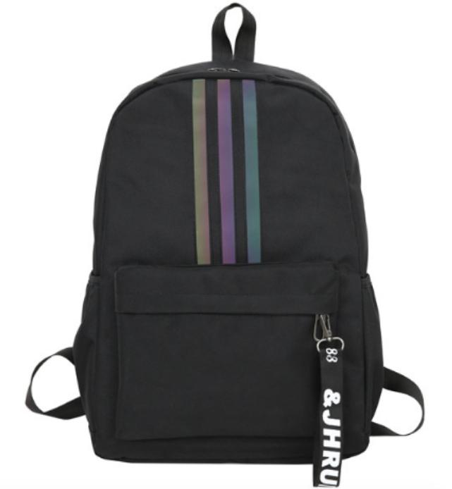 Рюкзак молодіжний Black світловідбиваючий