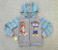 Детская кофта с капюшоном тёплая.