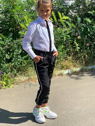 """Детские школьные брюки для девочки """"Vicі"""" с карманами и лампасами (2 цвета), фото 2"""