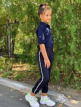 """Детские школьные брюки для девочки """"Vicі"""" с карманами и лампасами (2 цвета), фото 3"""