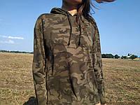 Женский стильный батник толстовка с капюшоном  Busem Турция цвета хаки