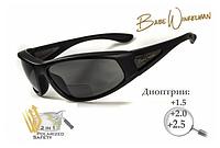 Ударопрочные поляризационные очки с бифокальной линзой BluWater Winkelman-2 (+1.5) черные, фото 1