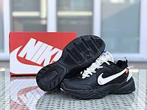 Подростковые кроссовки Nike M2K Tekno,черные с белым, фото 2