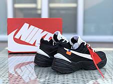 Подростковые кроссовки Nike M2K Tekno,черные с белым, фото 3