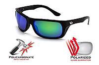 Защитные поляризованные очки Venture Gear Vallejo с сине-зелеными зеркальными линзами, фото 1