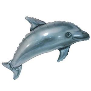 Фольгированный шар Дельфин 30см х 38см Серый