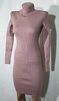 Практичное вязаное стильное платье на каждый день