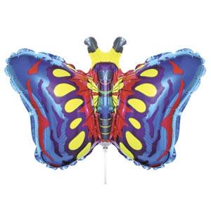 Фольгированный шар Бабочка 24см х 37см Разноцветный