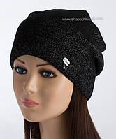 Черная вязаная шапка Висконти