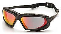 Защитные очки Pyramex Highlander-PLUS зеркальные красные, фото 1