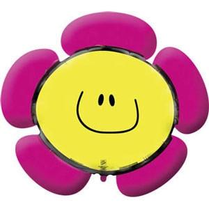 Фольгированный шар Цветок 34см х 38см Розовый