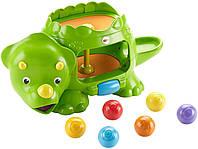 Детская развивающая игрушка Динозавр с шариками Фишер Прайс Fisher-Price Double Poppin' Dino DHW03