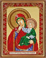 Набор для вышивки бисером на натуральном художественном холсте «Икона Божией матери «Отрада или Утешение»»