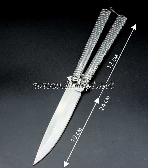 Нож бабочка Benchmade серый 1032