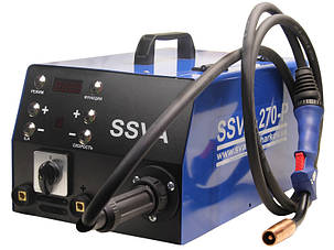 """Сварочный инверторный полуавтомат SSVA-270-P с горелкой MB-24KD """"Black Wolf"""" 3х-метровая, фото 2"""