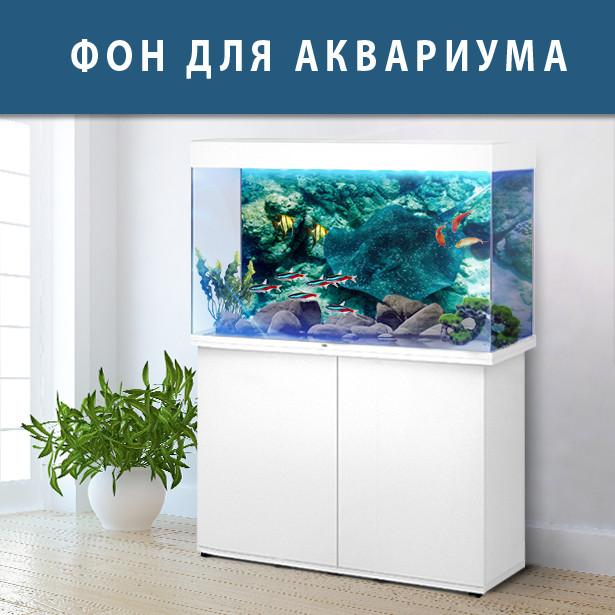 Аквариумный декор  подводным миром 40х65 см.