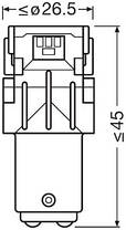 P21/5W Лампочки в габариты OSRAM LED P21/5W LED 12V 1.7W 6000K BAY15D / LED RETROFITS STANDARD ХОЛОДНЫЙ-БЕЛЫЙ, фото 3