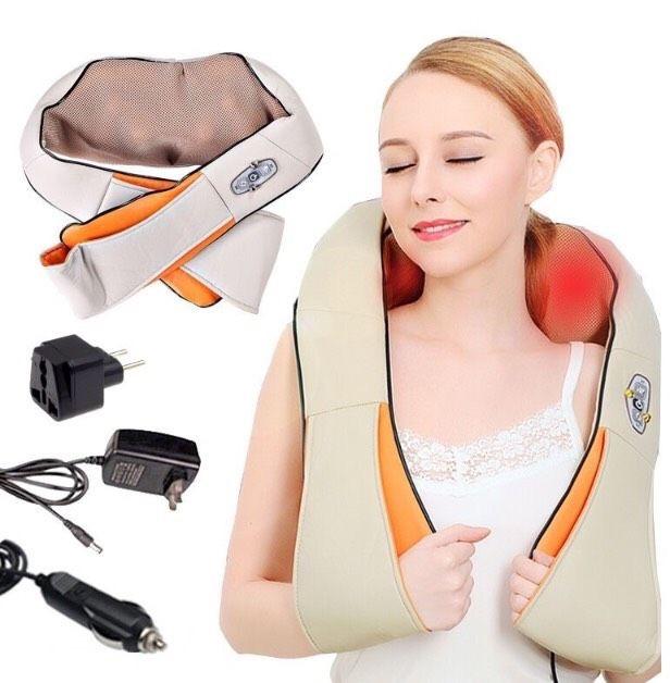 Роликовый массажер для спины и шеи на 3 кнопки
