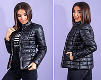 Куртка женская демисезонная черный, синий, красный, мята,бордо 42-52