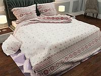 """Семейный комплект постельного белья  """"Вышиванка украинская с красным"""""""