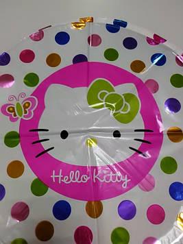 Воздушный фольгированый шарик с рисунком Китти 1шт