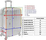 Дорожный чемодан на колесах пластиковый Siker Line (большой) какао, фото 4