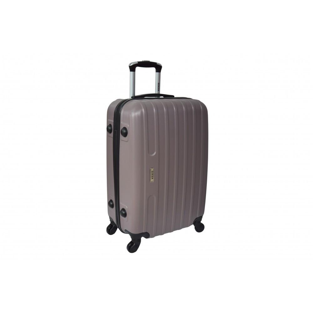 Дорожный чемодан на колесах пластиковый Siker Line (большой) какао