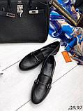 Лоферы слипоны Hеrmes ( Lux качество) черные, фото 2