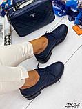 Женские туфли на шнурках из натуральной кожи с перфорацией черные, красные, капучино, синие, фото 3
