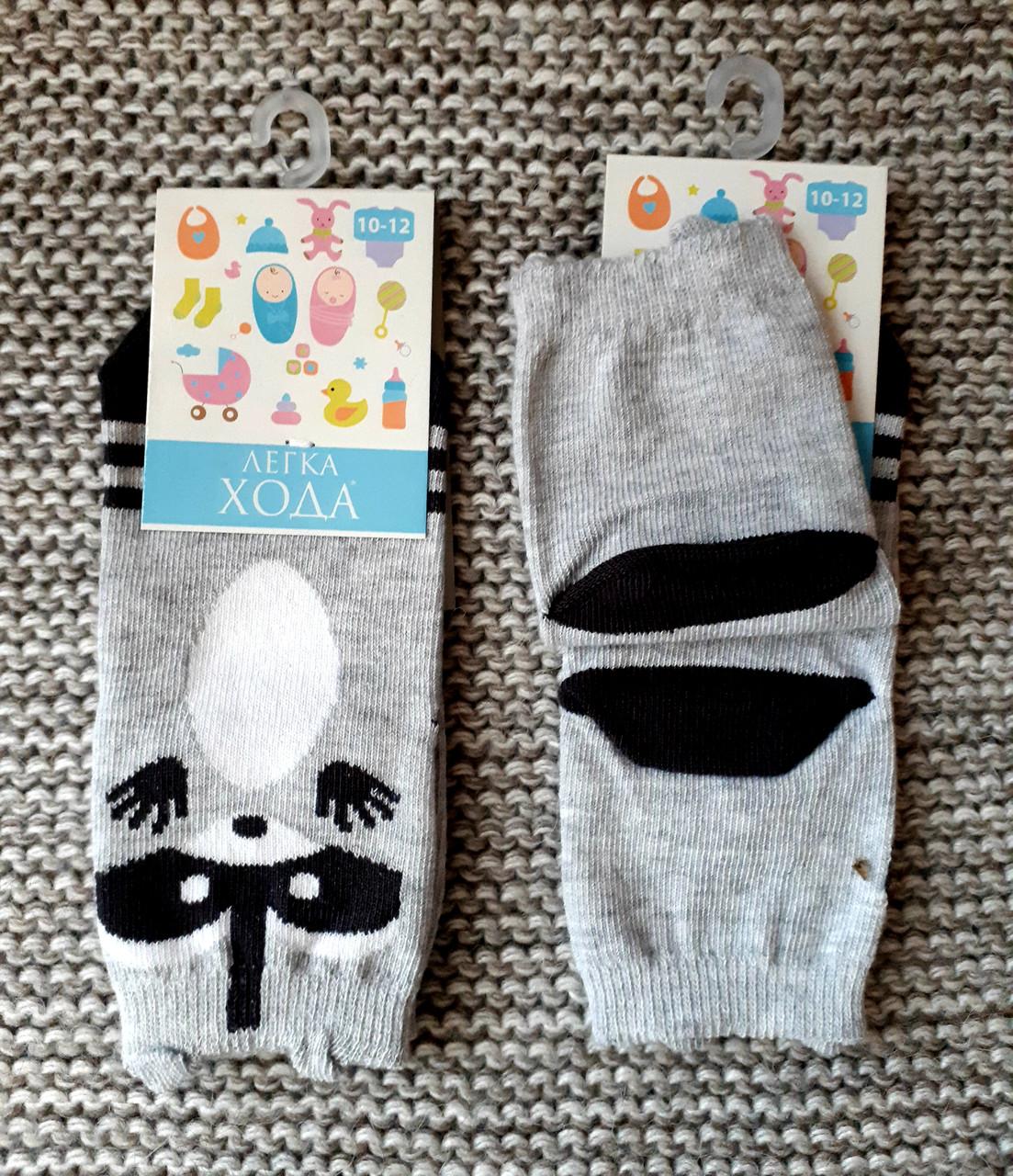 Носочки хлопковые детские серого цвета  ТМ Легка хода  (Украина)  размер 10 12