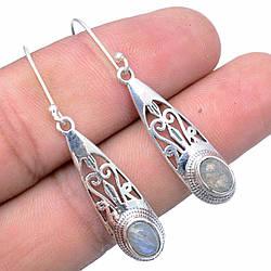 Серебряные серьги с лабрадором, 1117СЛ