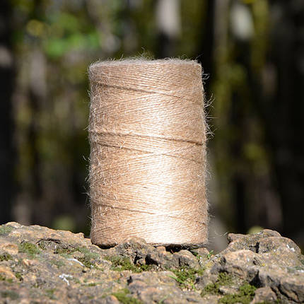 Шпагат джутовый 300 г, 1.5 мм, 2 нити, фото 2
