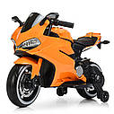 Дитячий електромобіль Мотоцикл M 4104 ELS-11, EVA колеса, LED підсвічування, сірий лак, фото 2