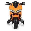 Дитячий електромобіль Мотоцикл M 4104 ELS-11, EVA колеса, LED підсвічування, сірий лак, фото 3