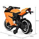 Дитячий електромобіль Мотоцикл M 4104 ELS-11, EVA колеса, LED підсвічування, сірий лак, фото 5