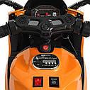 Дитячий електромобіль Мотоцикл M 4104 ELS-11, EVA колеса, LED підсвічування, сірий лак, фото 6