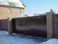 Откатные ворота. с. Романков