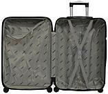 Дорожный чемодан на колесах пластиковый Bonro 2019 (большой) черный, фото 3