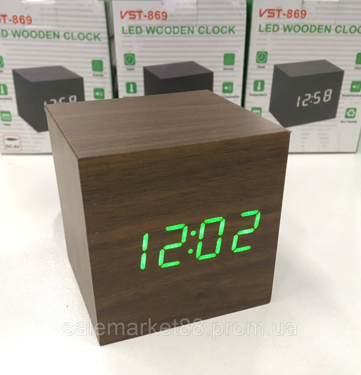 Настольные часы от сети+батарейка ART-869