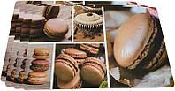 Набор 4 сервировочных коврика Fissman Cocoa Macarons 43.5х28.5см, пластик