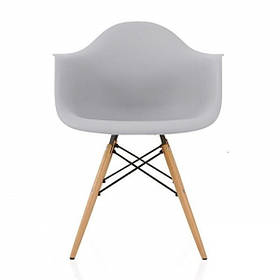 Кресло Тауэр Вуд, ножки Бук, пластик Серый (СДМ мебель-ТМ)