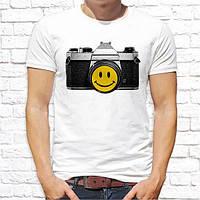 """Чоловіча футболка з принтом """"Фотоапарат"""" Push IT"""