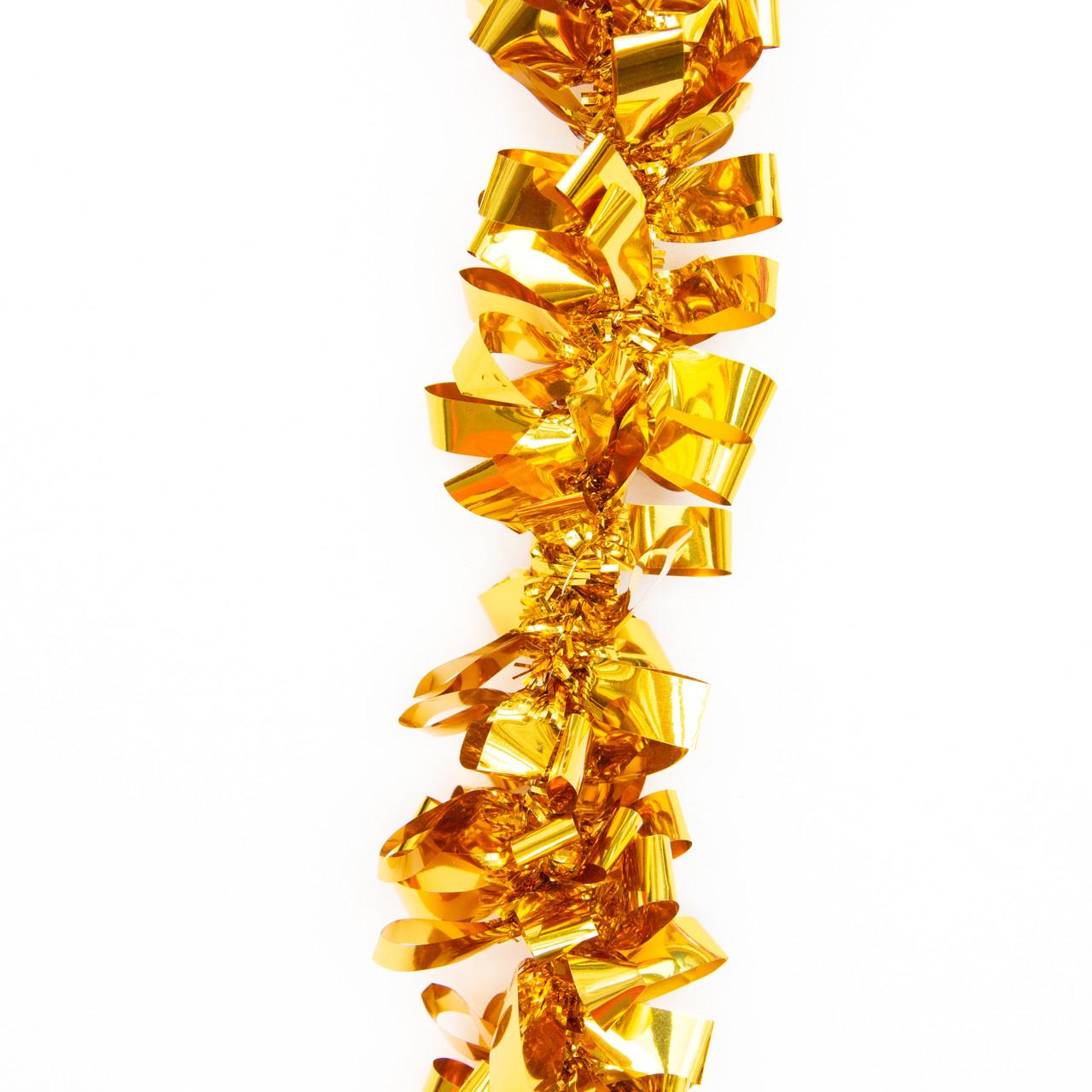Новогоднее украшение - мишура, 200*7 см, ПВХ, золотистый (ГСБ-70/2-2)