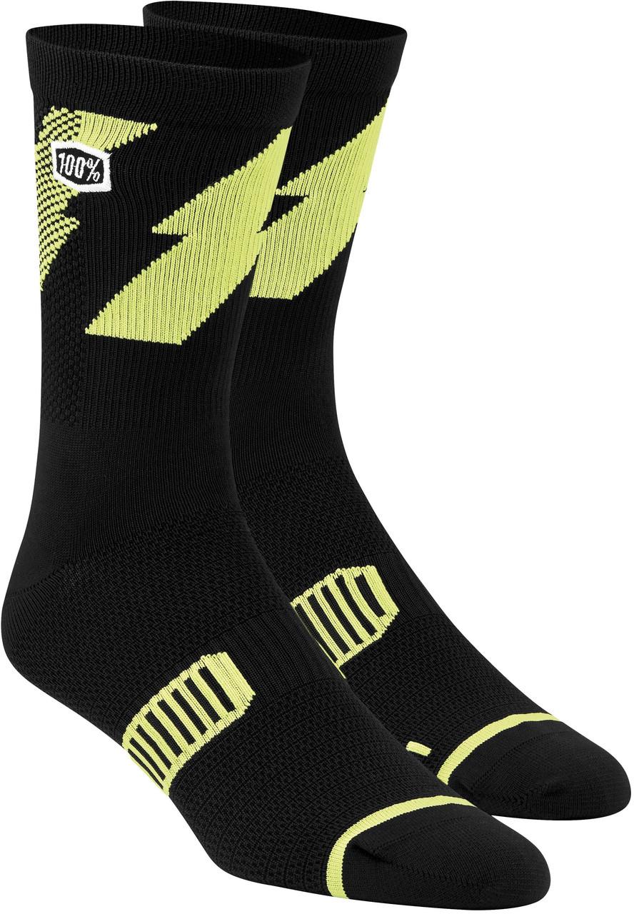 Шкарпетки для спорту Ride 100% BOLT Performance Socks [Lime], S/M
